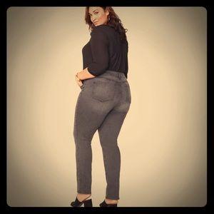 CLOSET CLOSING! NYDJ plus size gray jeans 16 wide